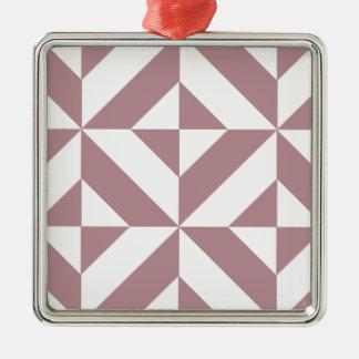 暗い藤色の幾何学的なDecoの立方体パターン メタルオーナメント