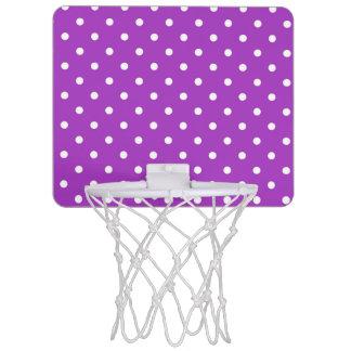暗い蘭の水玉模様の小型バスケットボールたが ミニバスケットボールネット