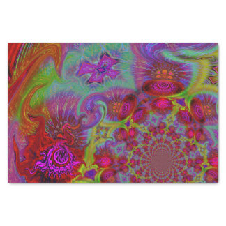 暗い虹のサイケデリックな抽象デザイン 薄葉紙