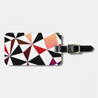 暗い虹の三角形のデザイン ラゲッジタグ