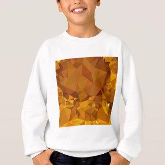 暗い蜜柑の黄色の抽象芸術の低い多角形Backgro スウェットシャツ