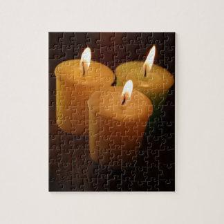 暗い蝋燭のカッコいいのパズル ジグソーパズル