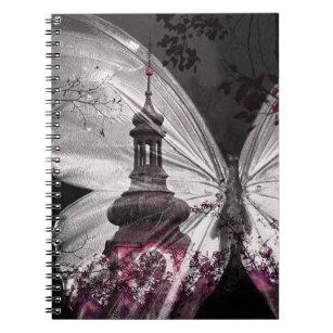 暗い蝶翼の時計台のノート ノートブック