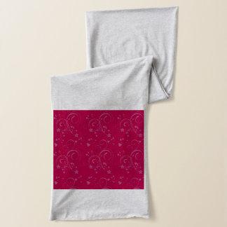 暗い赤紫色パターンスカーフ スカーフ