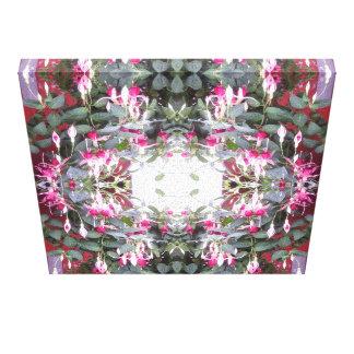 暗い赤紫色1つのフラクタル(整う) キャンバスプリント