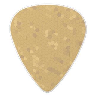 暗い金モザイク ホワイトデルリン ギターピック