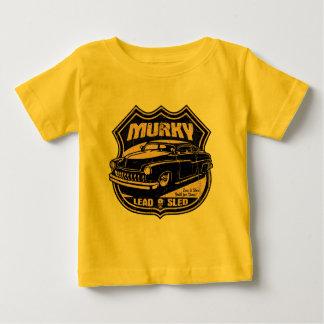 暗い鉛のそり ベビーTシャツ