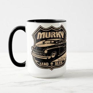 暗い鉛のそり マグカップ