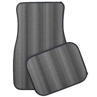 暗い鋼鉄灰色のストライプライン産業パターン カーマット