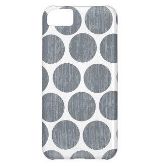 暗い鋼鉄灰色の動揺してな水玉模様のiPhone iPhone5Cケース