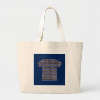 暗い陰水晶パターン医術のギフトのおもしろい ラージトートバッグ