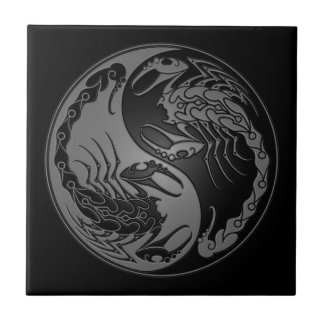 暗い陰陽の蠍 タイル