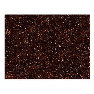 暗い青銅色のオレンジグリッター ポストカード