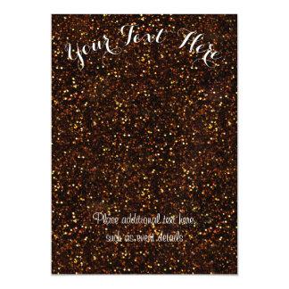暗い青銅色のオレンジグリッター マグネットカード