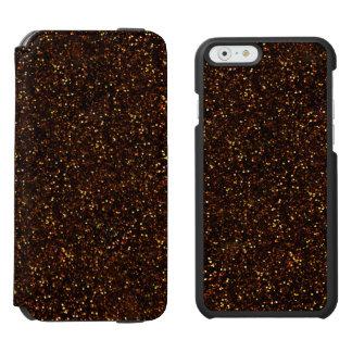 暗い青銅色のオレンジグリッター INCIPIO WATSON™ iPhone 5 財布型ケース