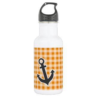 暗い-オレンジギンガム; いかり ウォーターボトル