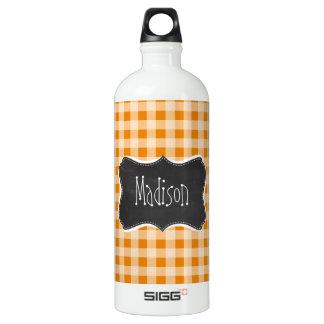 暗い-オレンジギンガム; 黒板 ウォーターボトル