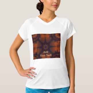 暗い-オレンジゴシックの星の抽象芸術 Tシャツ