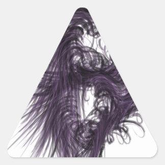暗い 三角形シール