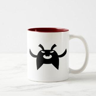 暗いBunny_4 ツートーンマグカップ