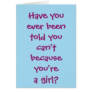 暗いCSIの女の子 カード