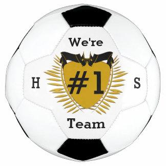 暗いGoldenrod印#1のチーム サッカーボール