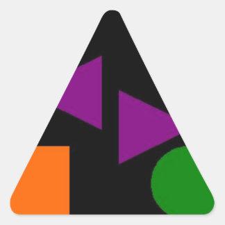 暗いOGP 三角形シール