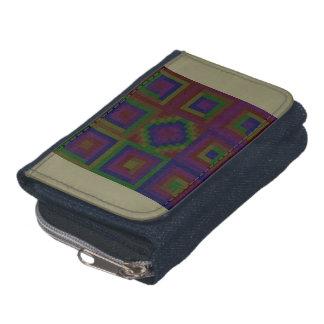 暗いPanic™のデニムの財布w/Coinの財布 ウォレット