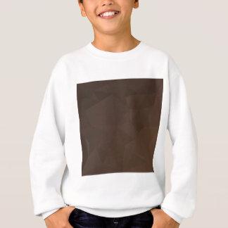 暗いPuceのブラウンの抽象的で低い多角形の背景 スウェットシャツ