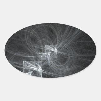 暗いSmokey 楕円形シール
