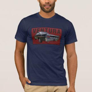 暗いTシャツの61のポンティアクベントゥーラの背面図。 Tシャツ