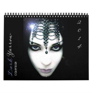 暗いYarrowの芸術2014のカレンダー カレンダー