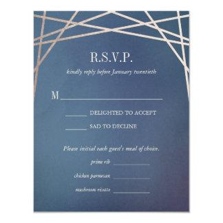 暗くオパールのような結婚式招待状の応答RSVPカード カード