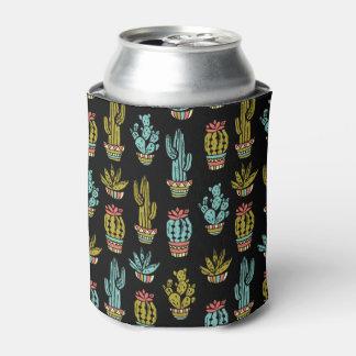 暗くグランジなサボテンパターン 缶クーラー