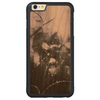 暗く豊富なさくらんぼのiPhone 6のプラスの場合 CarvedチェリーiPhone 6 Plusバンパーケース