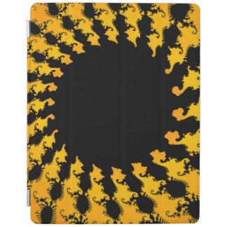 暗く黄色いフラクタル iPadスマートカバー