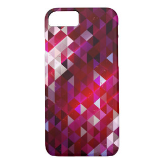 暗く、軽い多角形パターン iPhone 7ケース