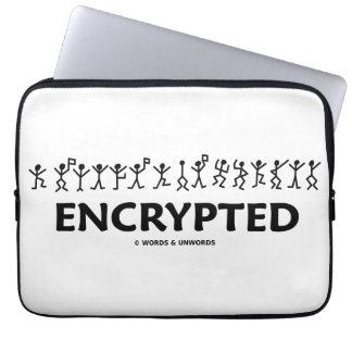 暗号化されて(踊りの人の棒は暗号を計算します) ラップトップスリーブ