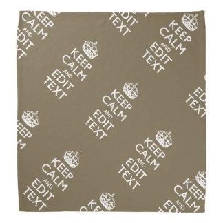 暗灰色のコーヒー装飾は平静およびあなたの文字を容易に保ちます バンダナ