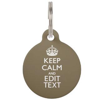 暗灰色のコーヒー装飾は平静およびあなたの文字を容易に保ちます ペット ネームタグ