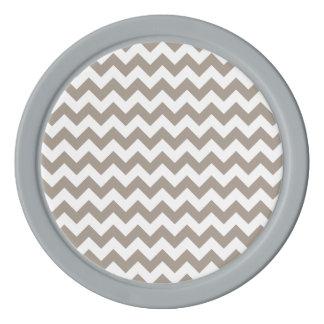 暗灰色のシェブロンパターン ポーカーチップ