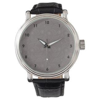 暗灰色のブラウンのペイズリーパターン 腕時計