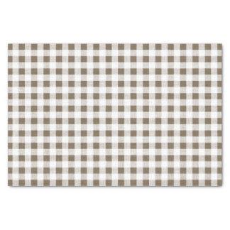 暗灰色の白いギンガムパターン 薄葉紙