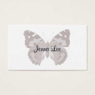 暗灰色の蝶/ガの名前入りな名刺 名刺