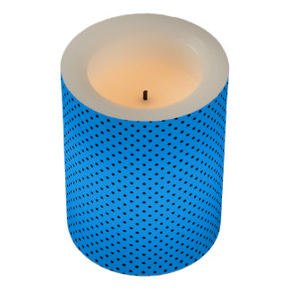 暗藍色の水玉模様LEDの蝋燭のラッパー LEDキャンドル