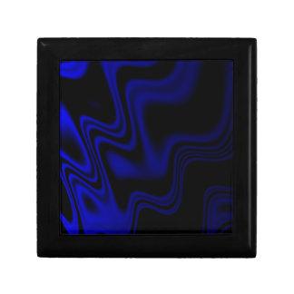 暗藍色の波状の抽象芸術 ギフトボックス