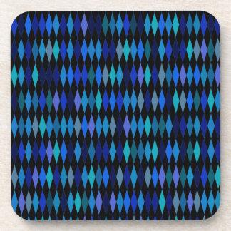 暗藍色の道化師のダイヤモンドパターン コースター