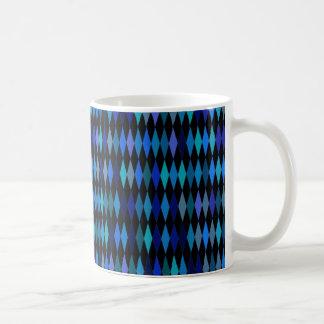 暗藍色の道化師のダイヤモンドパターン コーヒーマグカップ