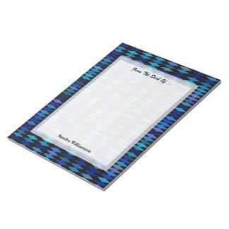 暗藍色の道化師パターン ノートパッド