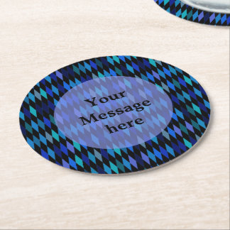 暗藍色の道化師パターン ラウンドペーパーコースター